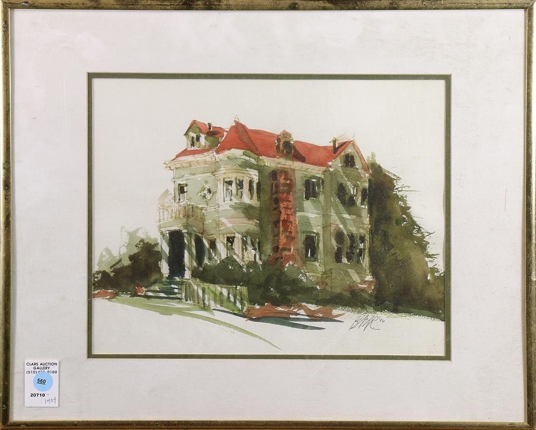 Watercolor,San Francisco Home