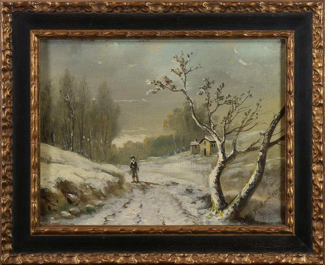 Painting, Hunter on the Path