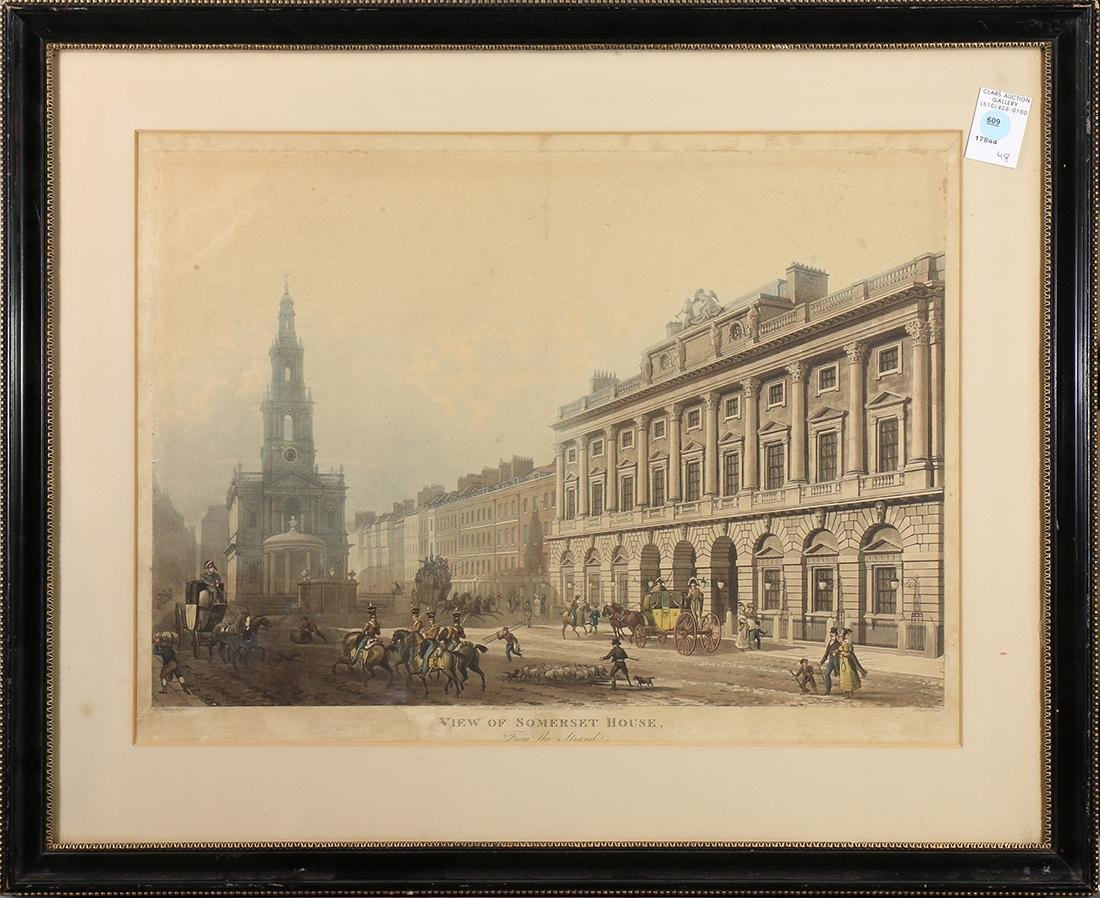 Print, View of Somerset House: From the Strand
