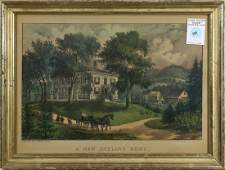 Currier  Ives A New England Home
