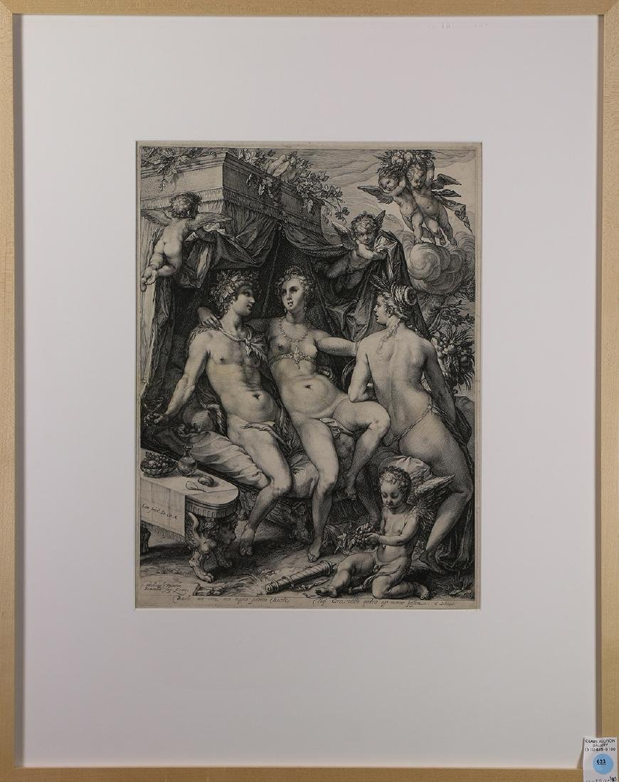 Print, After Hendrik Goltzius, Bacchus, Venus, and