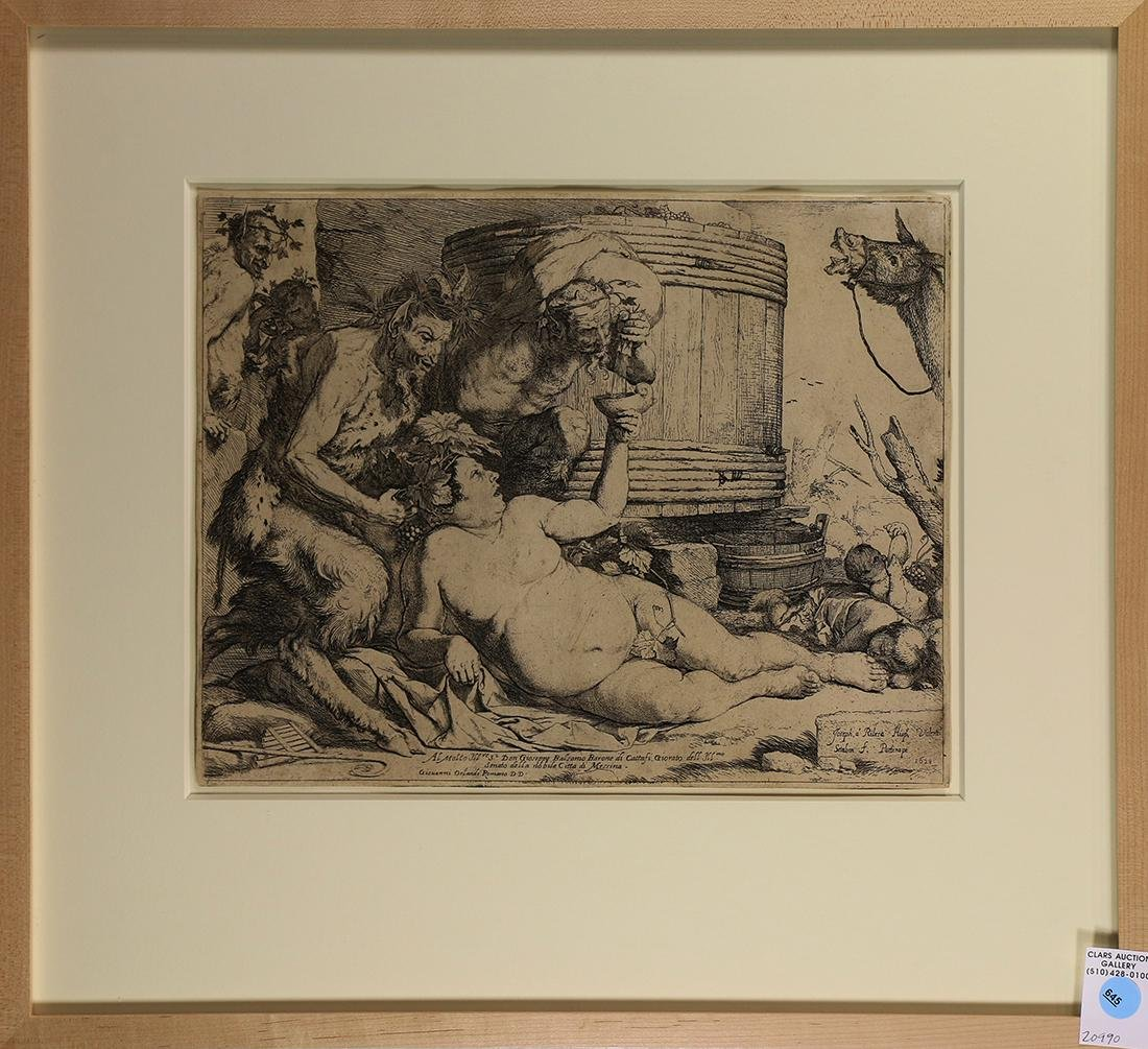 Print, Jusepe de Ribera, The Drunken Silenus