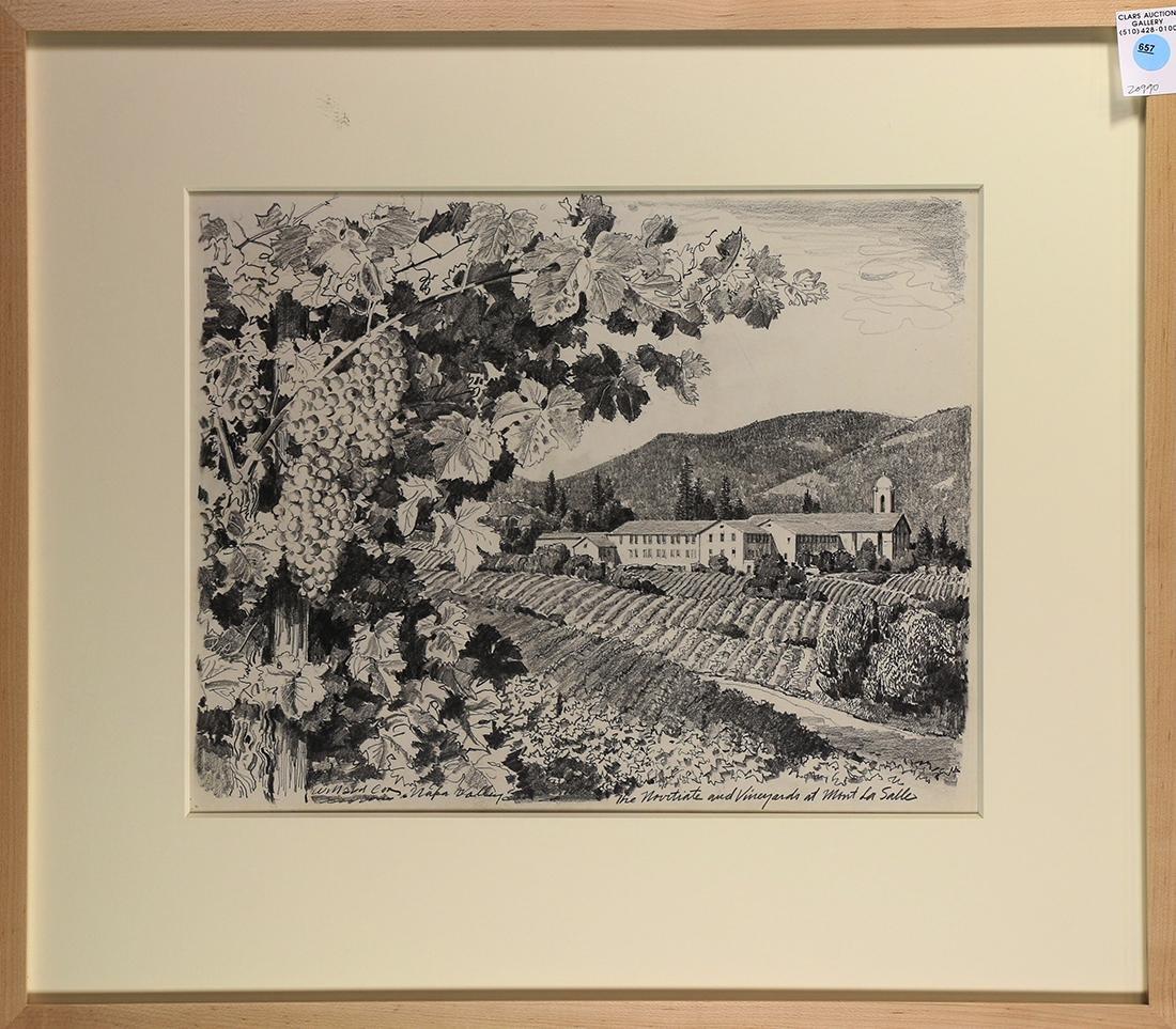 Work on Paper, Willard Cox, Napa Valley the Novitiate