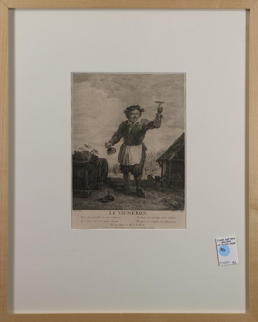 Print, Jean Charles Levasseur, Le Vigneron, after David
