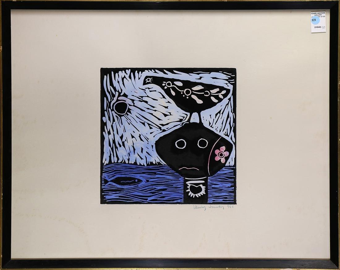 Print,  Bird Fishing