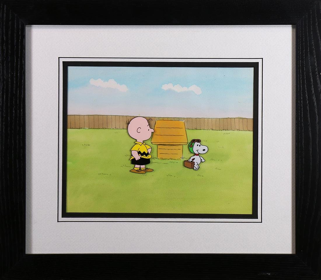 Original Cel, Snoopy and Charlie Brown, Charles Schultz