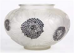 R Lalique Dahlias vase no. 938 circa 1923