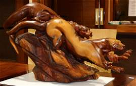 Wood sculpture, J Chester Armstrong