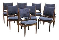 Finn Juhl for Niels Vodder Egyptian rosewood chairs