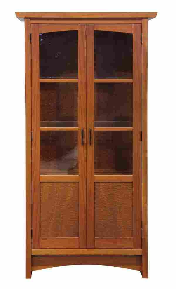 "Berkeley Mills ""Mesa"" custom mahogany curio cabinet"