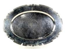 Shreve  Co sterling silver oval serving platter