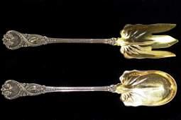 Tiffany  Co sterling silver salad set