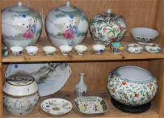 Chinese Porcelain Famille Rose Enameled Jars Cups
