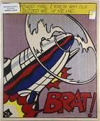 Print, Roy Lichtenstein, As I Opened Fire