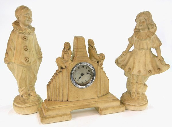 9: 1934 Art Deco clock set