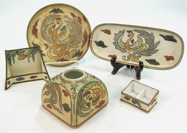 11: Nippon porcelain desk set