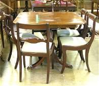 150: Duncan Phyfe Mahogany Dining Table