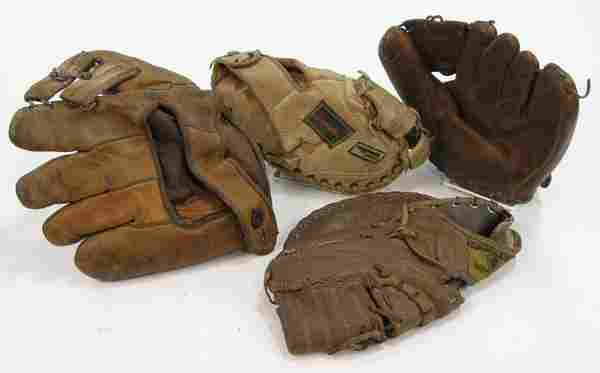 Vintage sports memorabilia mitts glove