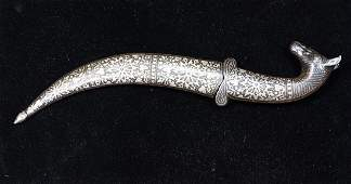 Indian dagger 20th Century executed in steel with