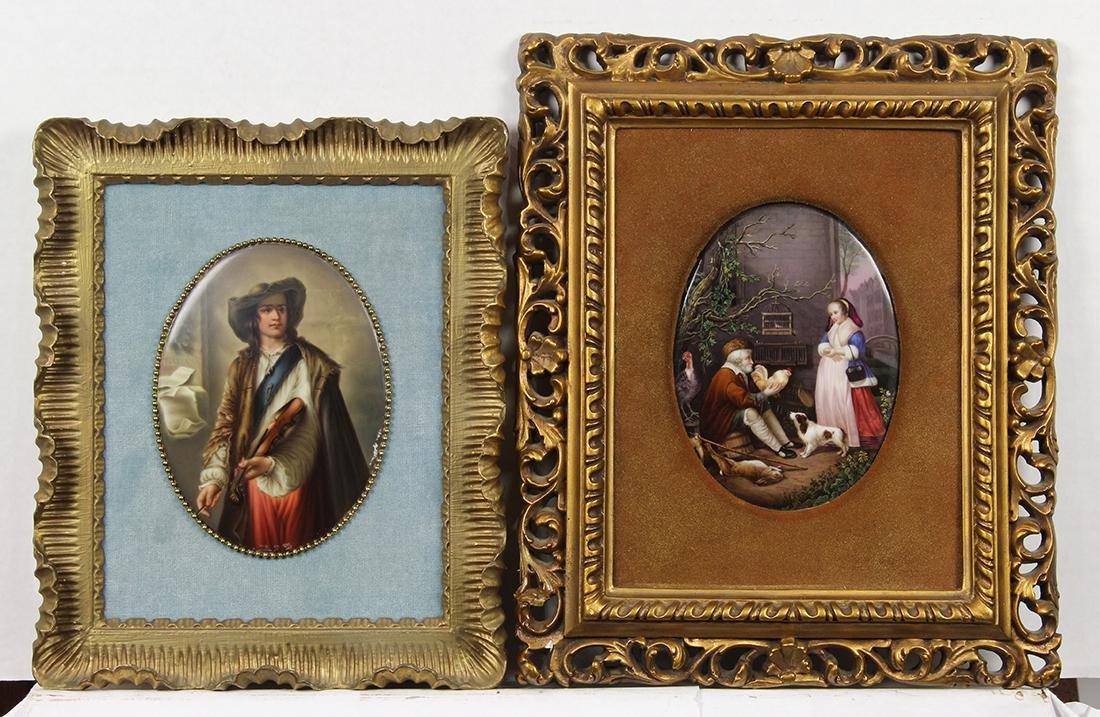 German porcelain plaques