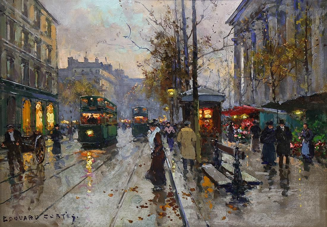 Painting, Edouard Leon Cortes