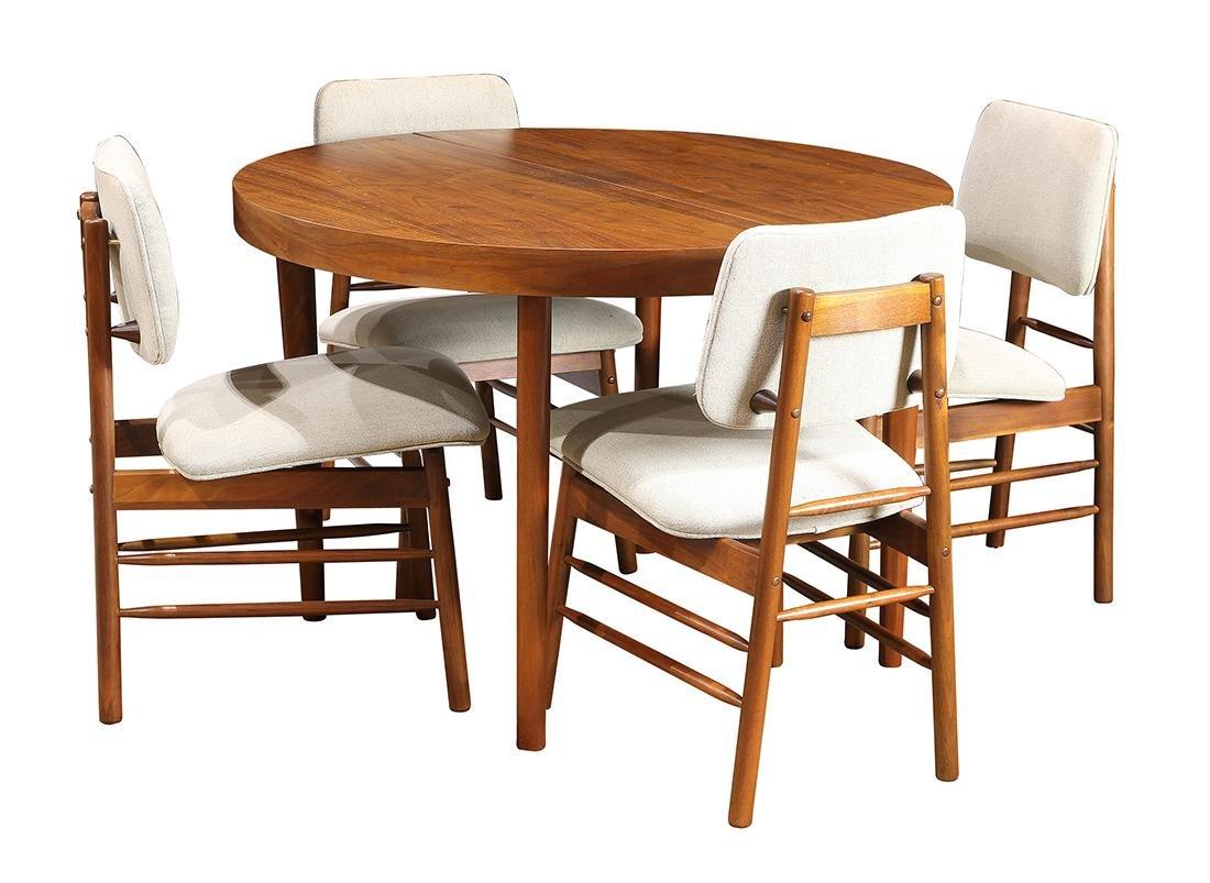 Mid-Century Modern walnut dining room suite by Greta