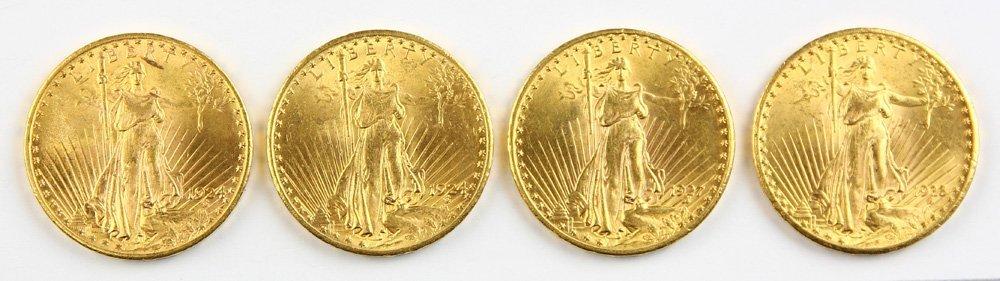 U.S $20 St. Gaudens Gold Coins
