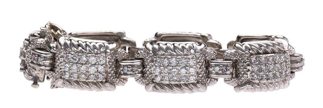 Judith Ripka diamond and 18k white gold bracelet