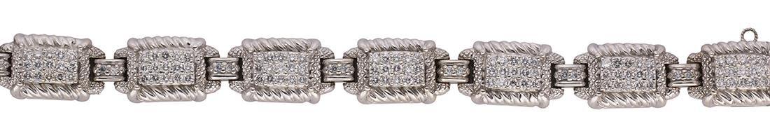 Judith Ripka diamond and 18k white gold bracelet - 2