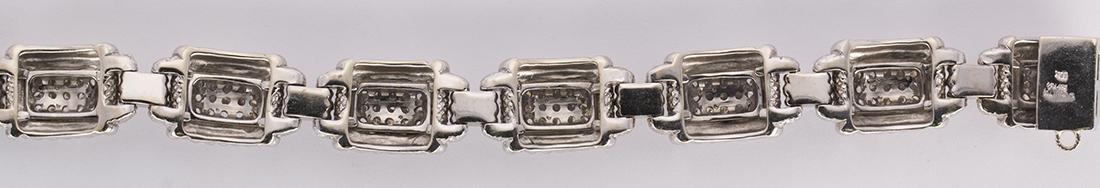 Judith Ripka diamond and 18k white gold bracelet - 3