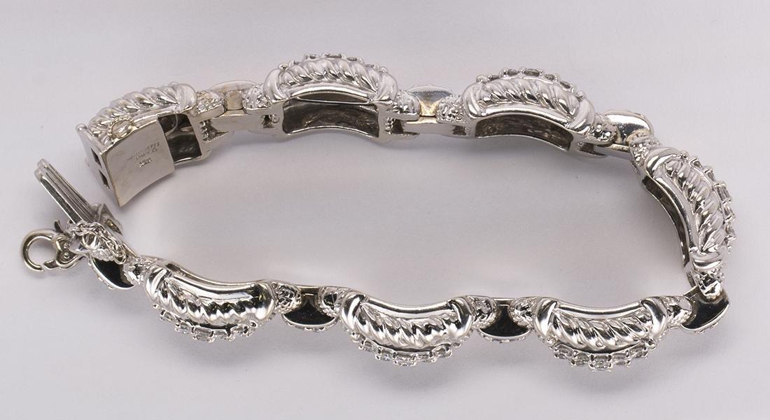 Judith Ripka diamond and 18k white gold bracelet - 4
