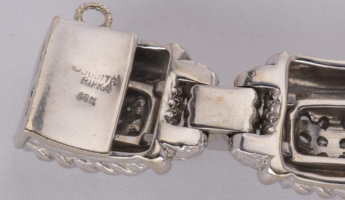 Judith Ripka diamond and 18k white gold bracelet - 5