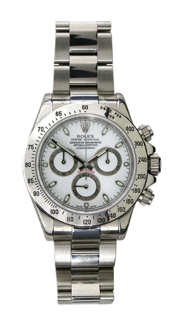 Rolex White Dial Cosmograph Daytona Stainless steel