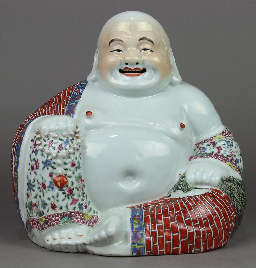 Chinese Porcelain Budai, Zhu Mao Ji