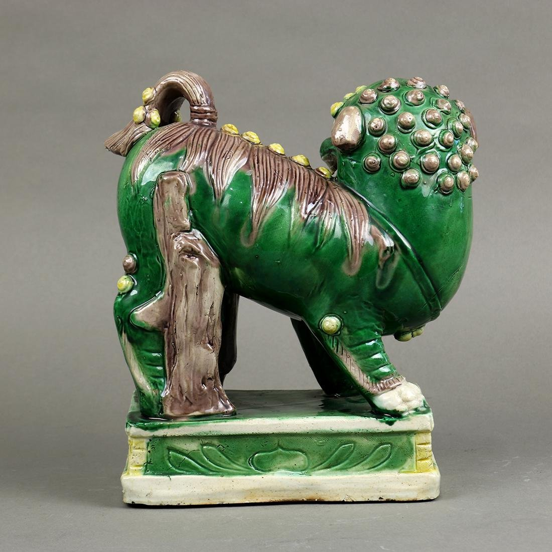 Chinese Famille Verte Lion - 3