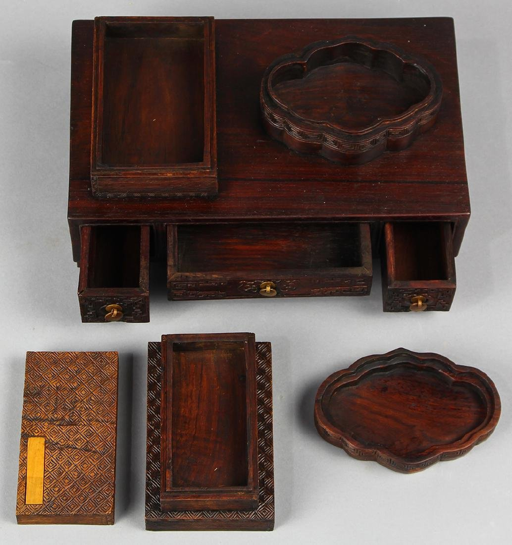Chinese Wood Box and Small Desk - 2