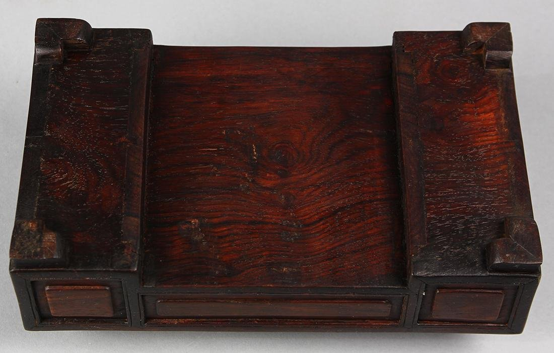Chinese Wood Box and Small Desk - 4