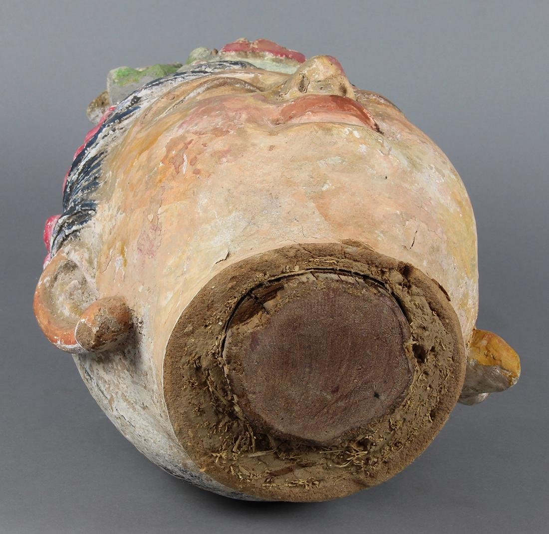 Chinese Polychrome Stucco Guanyin Head - 5