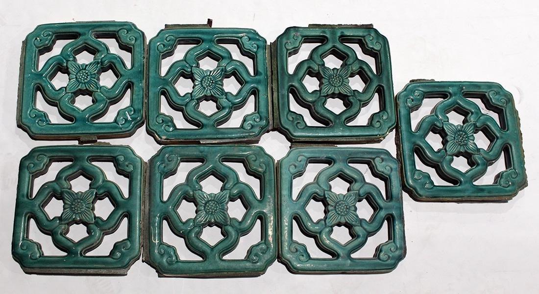 Chinese Green Glazed Ceramic Tiles