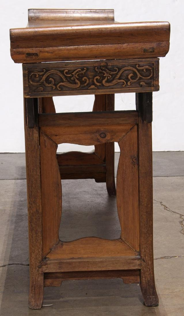 Chinese Wood Altar Table, Scroll Apron - 3