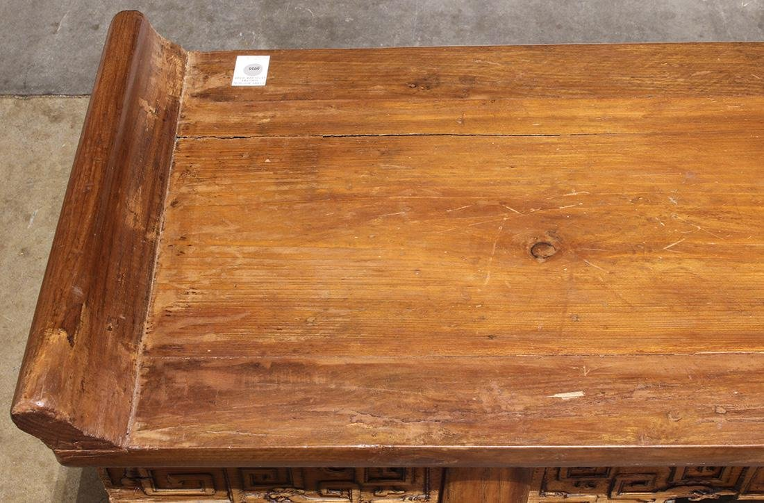 Chinese Wood Altar Table, Scroll Apron - 5