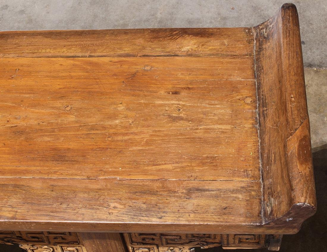 Chinese Wood Altar Table, Scroll Apron - 6