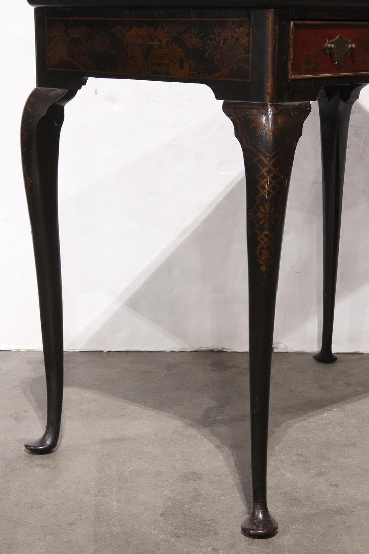 Chinoiserie Lacquered Table, Figures - 5
