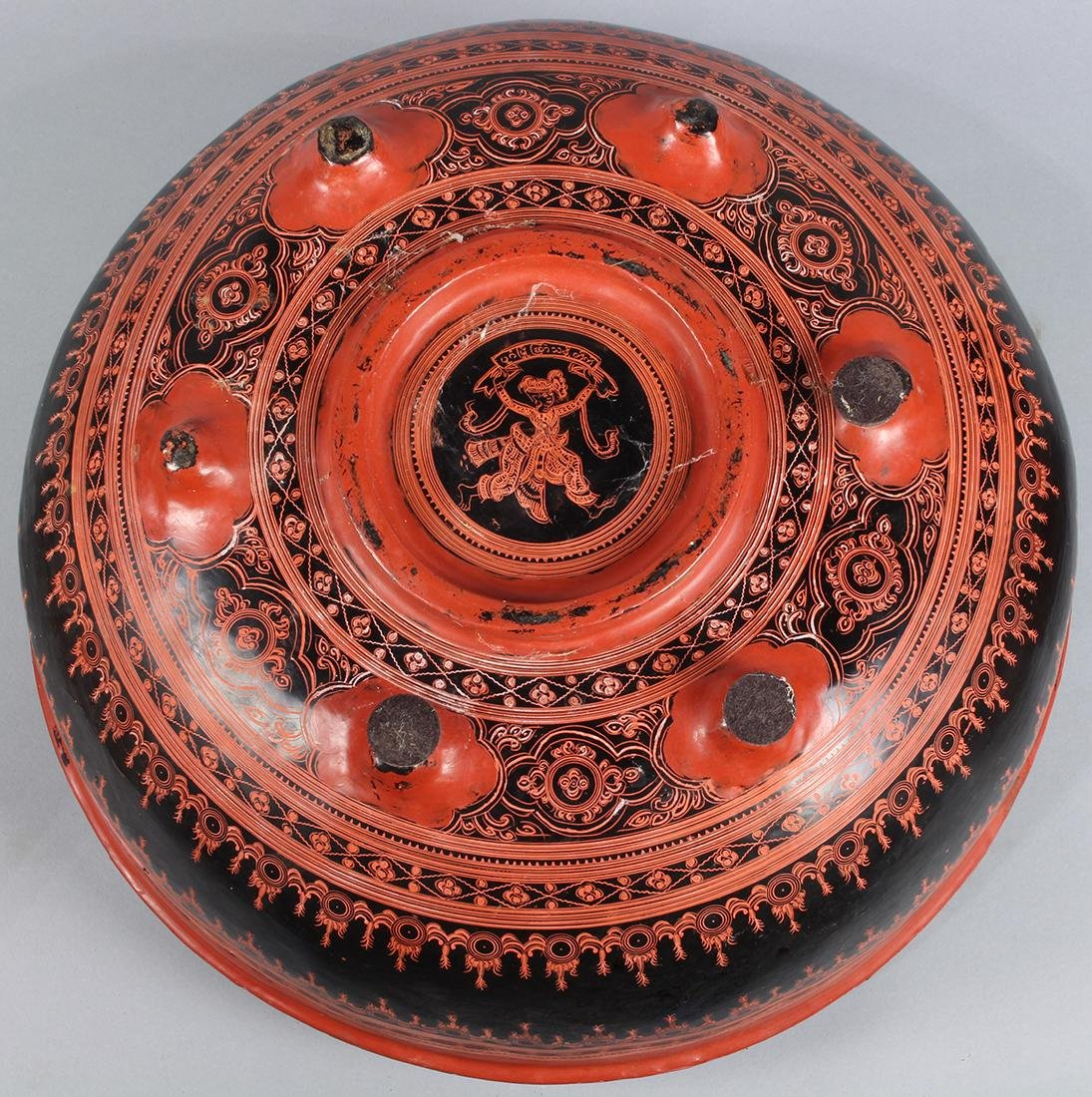 Southeast Asian Red Lacquered Box - 3