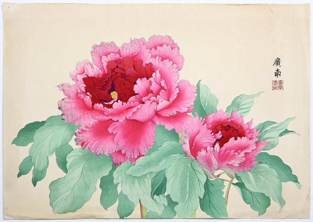 Japanese Woodblock Prints, Nishimura Shodo, Flowers - 2