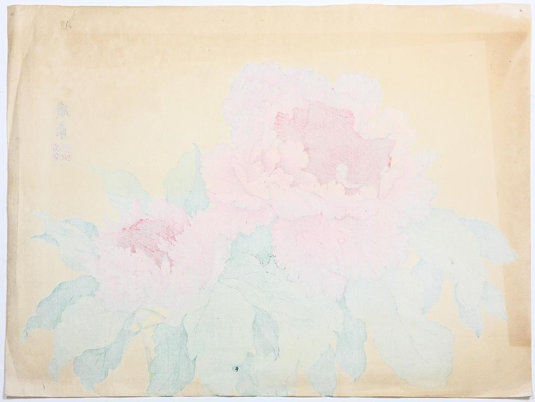 Japanese Woodblock Prints, Nishimura Shodo, Flowers - 3