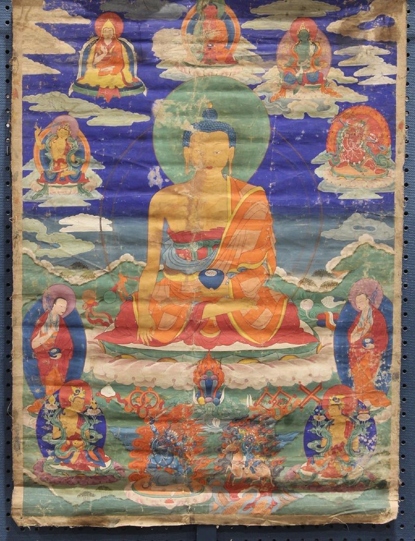 Himalayan Painted Thangka, Buddha
