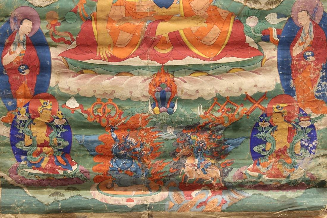 Himalayan Painted Thangka, Buddha - 5
