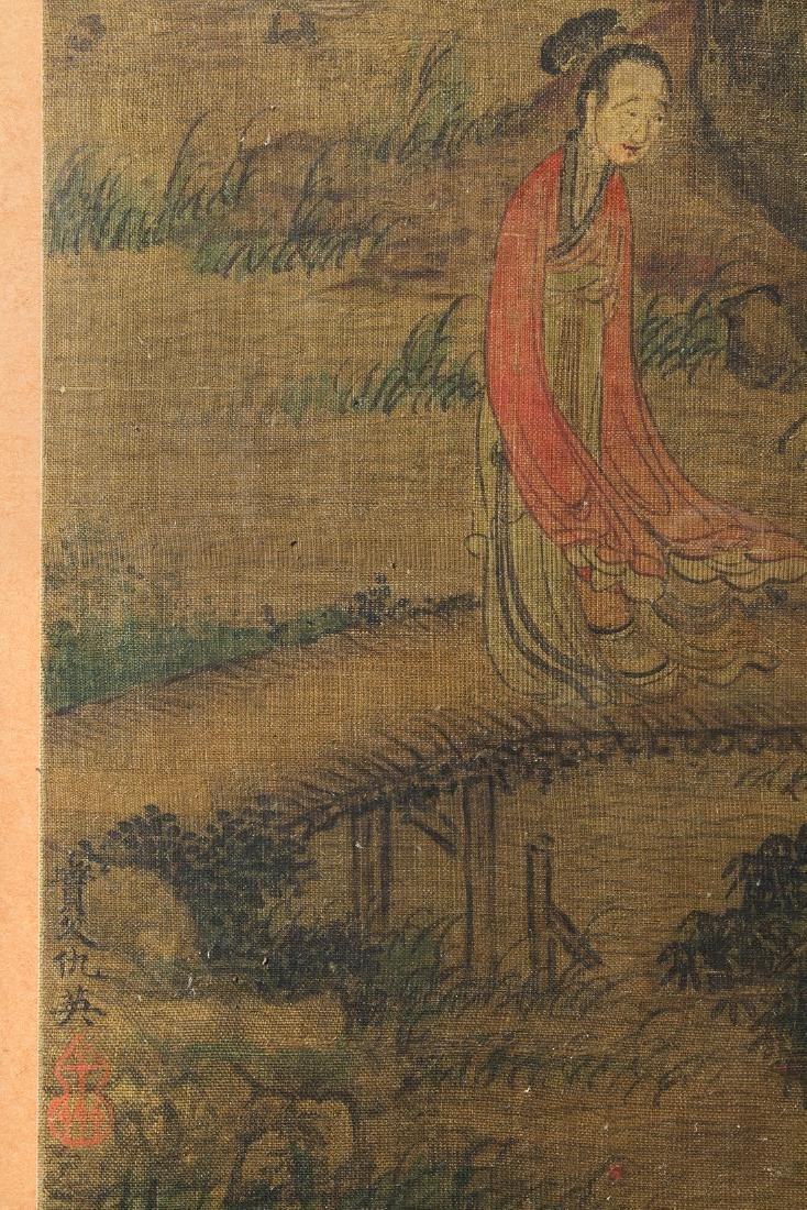 Framed Chinese Painting, Manner of Qiu Ying, Figures in - 2