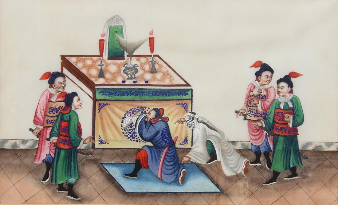 Chinese Pith Paintings, Figures - 13